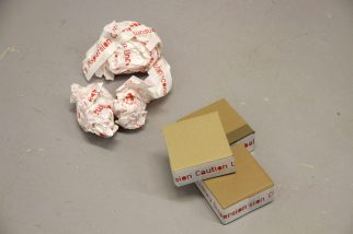 Micellaneous Object: Printed Adhesive Tape and Box. Multiple (2015)