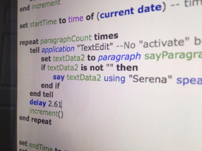 Script Display 1 screenshot (2017)