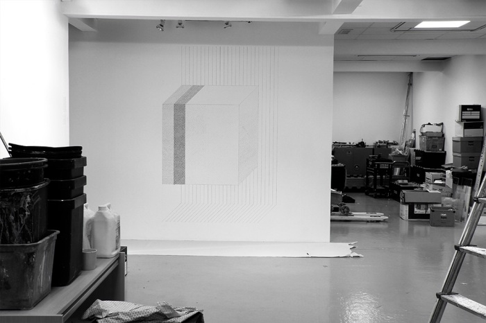 UGLyD wall drawing (2017) graphite, John Hansard Gallery