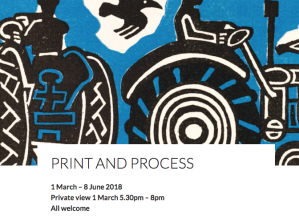 Print & Process Exhibition at Highfield Library L4 Gallery, Southampton