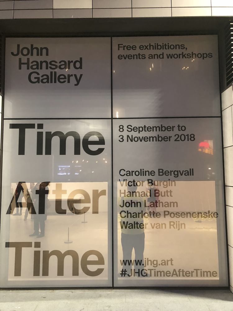 Time After Time Exhibition Opening, John Hansard Gallery 2018.