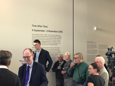 Time After Time Exhibition Opening, John Hansard Gallery 2018