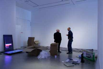 Time After Time Exhibition Install, John Hansard Gallery 2018