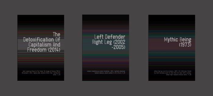 """The Detoxification, Left Defender, Mythic Being"" Work 1, 3 and 7 of a series of 25; Digital print, face-mounted on plexiglass, each 30.5 x 40.5 x 2.5 cm."