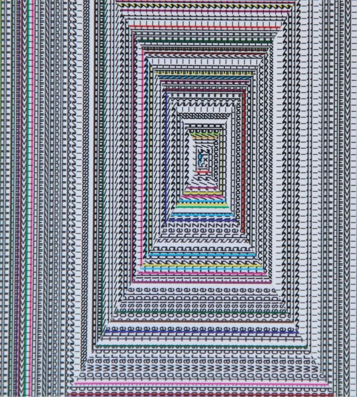 Walter van Rijn (2019) Labyrinth wall design 3, detail