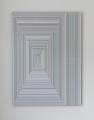 Walter van Rijn (2019) Labyrinth wall design 3, collage on aluminium