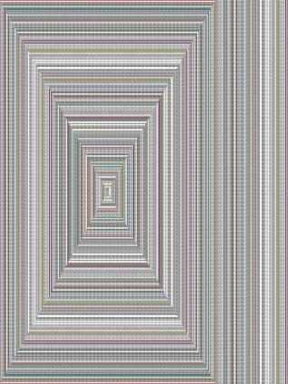 Walter van Rijn (2019) Labyrinth wall design 3, collage on aluminium