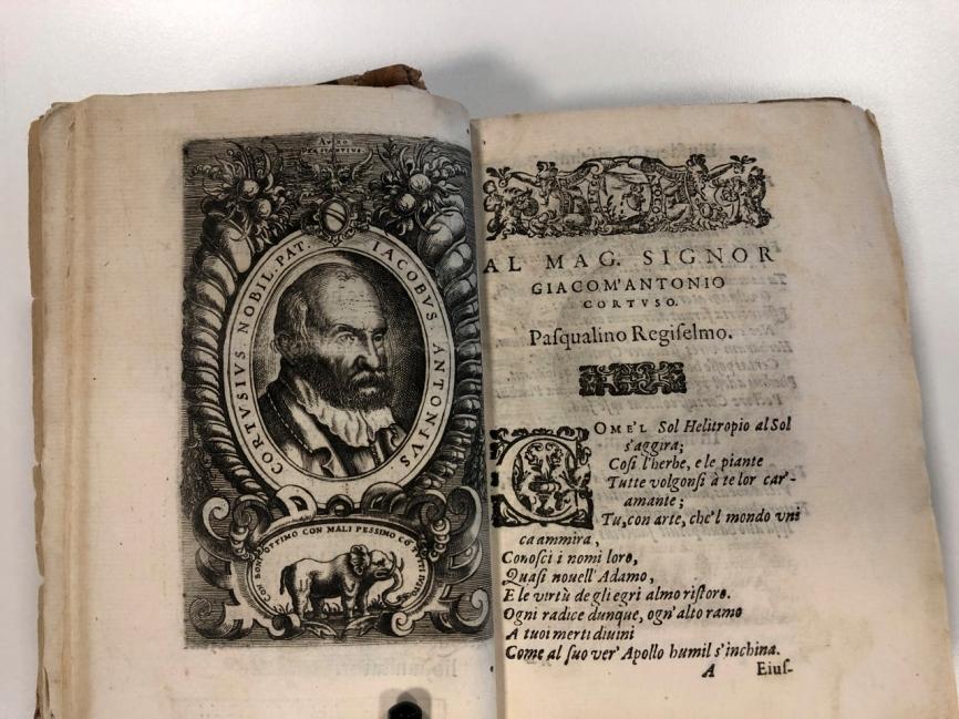 Cortusi, Giacomo Antonio, L'horto de i semplici di Padoua… Venezia, Girolamo Porro, 1591. Copy from Padua City Library