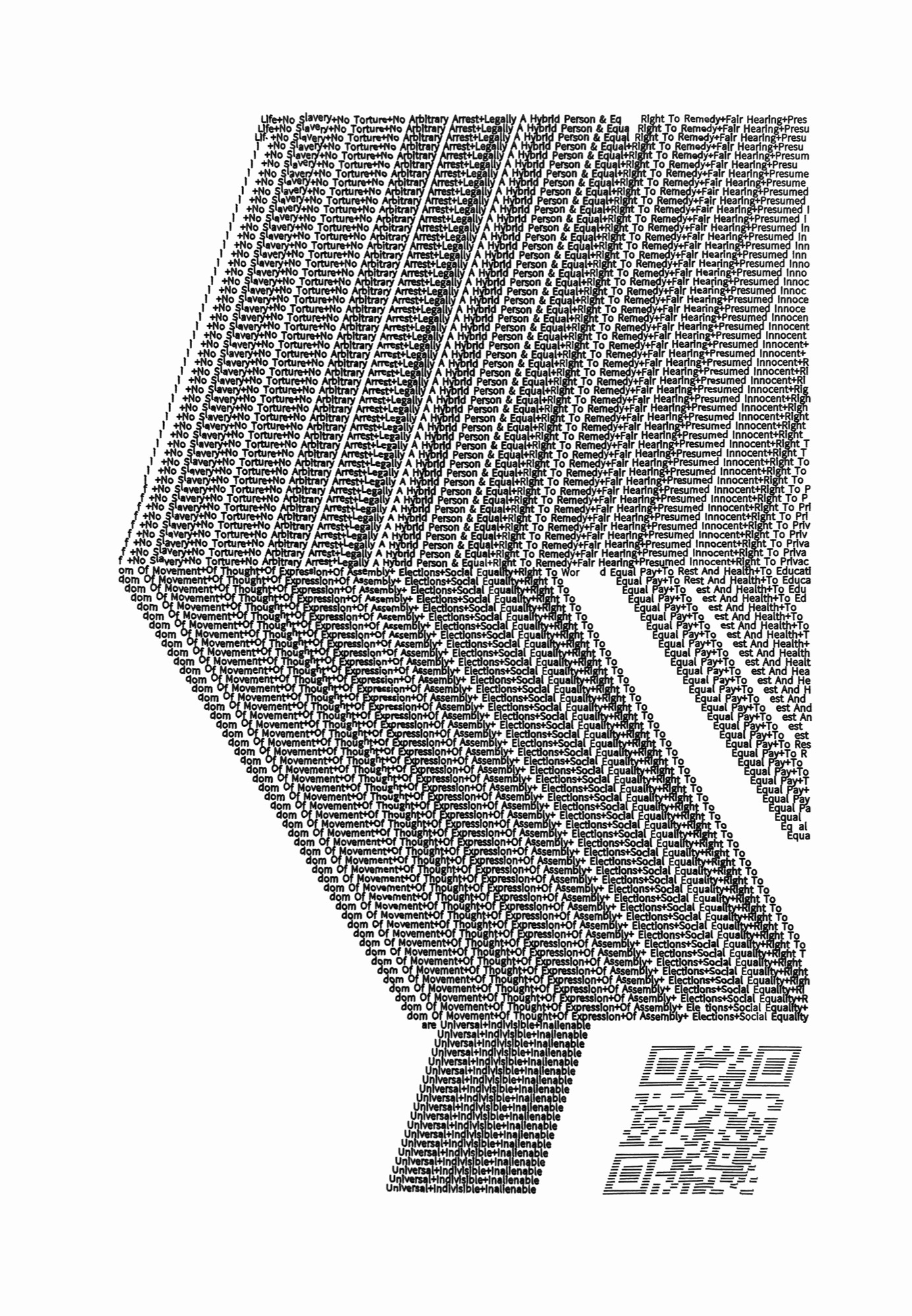 Walter van Rijn (2020) BeingAndroid_text112; Print from drawing ink on paper; 300x420mm; hybrid human robotic drawing.
